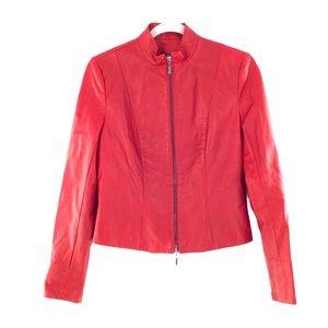DANIER Red Leather Jacket XS LNC